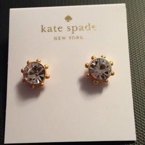 Kate spade flying colors bezel earrings